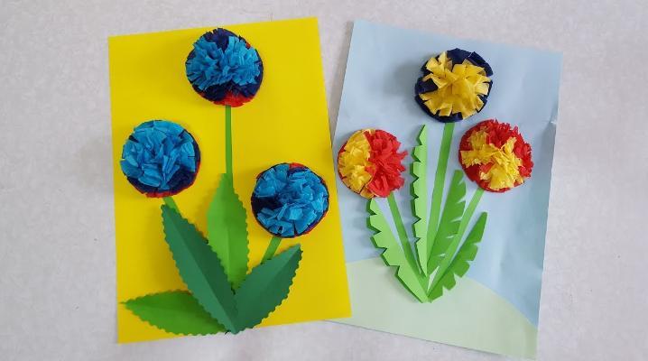 Paper Flowers & # 8212; Mga scheme at mga template para sa paglikha ng mga kulay ng papel na yugto 150.