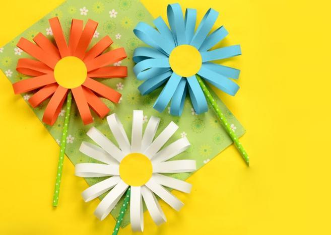 Paper Flowers & # 8212; Mga scheme at mga template para sa paglikha ng mga kulay ng papel na yugto 70.