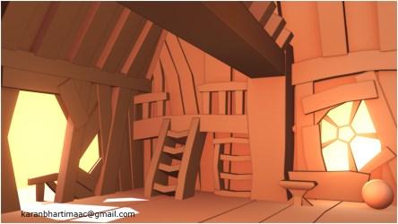 Cartoon Animated House Inside 1