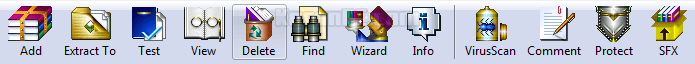 WinRAR Button