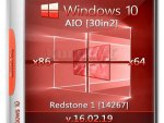 Windows 10 Redstone 1 [14267] (x86-x64) AIO [30in2] [Ger/Eng/Rus]