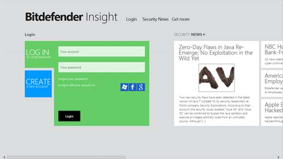 Bitdefender Insight for Windows 8