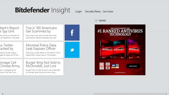 Bitdefender Insight for Windows 10