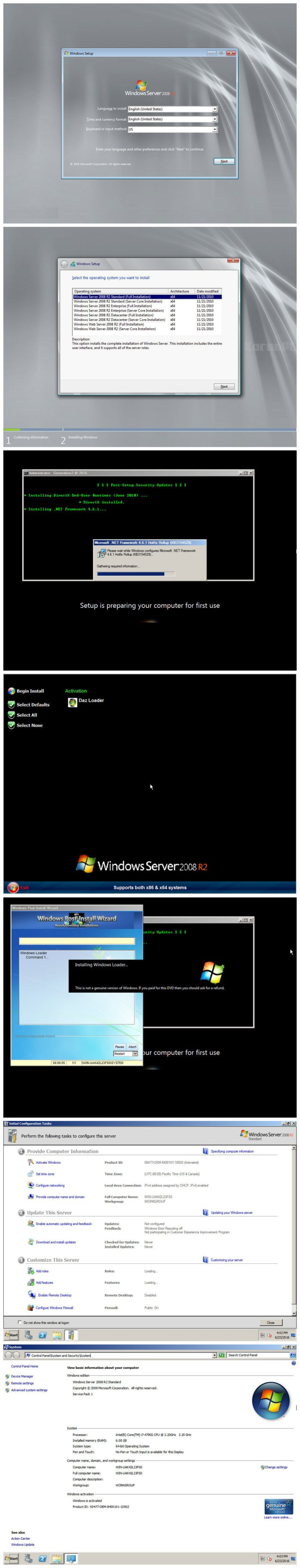 Windows Server 2008 R2 SP1 OS