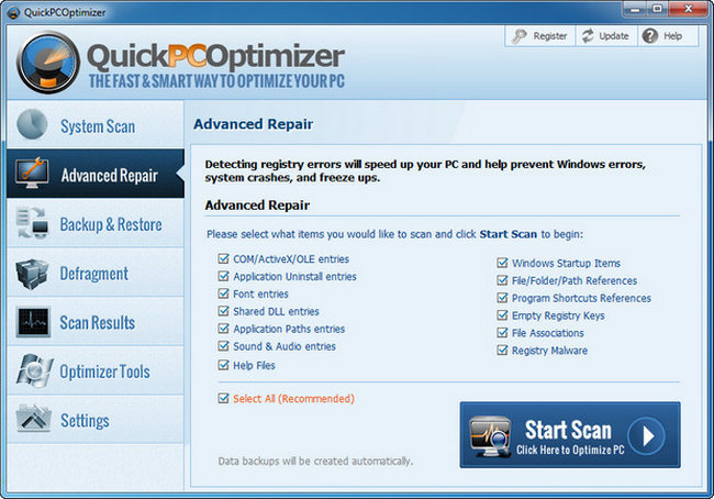 QuickPCOptimizer Key