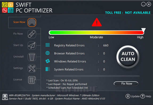 Swift PC Optimizer Key