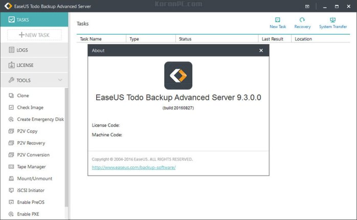 EaseUS Todo Backup Advanced Server 9.3.0.0