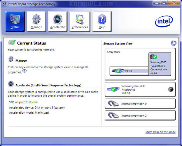 Intel Rapid Storage Technology Driver