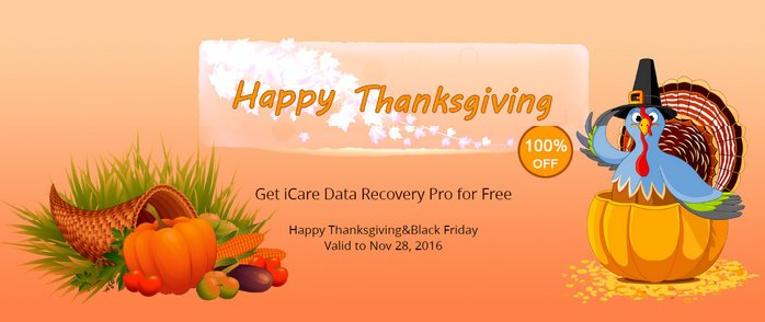 iCare Data Recovery Thanksgiving Giveaway 2016