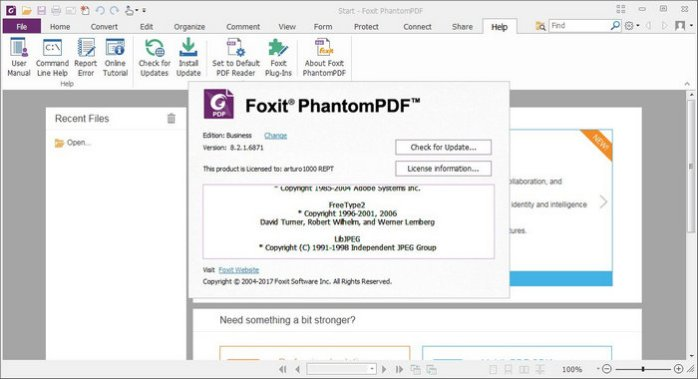 Foxit PhantomPDF Business 8.3
