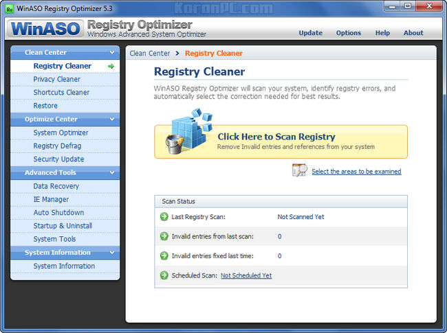 WinASO Registry Optimizer Portable Version