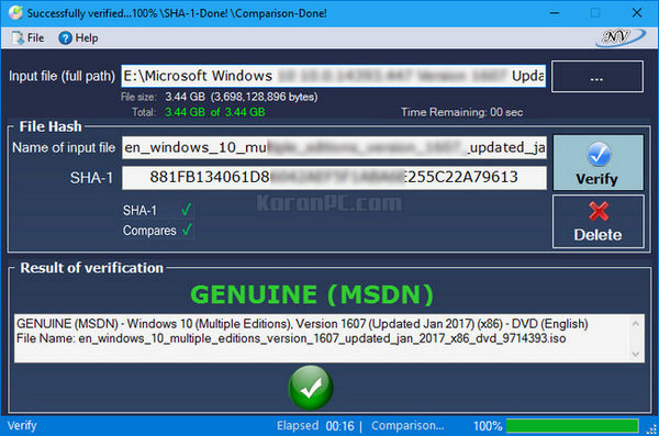 Windows and Office Genuine ISO Verifier 6.5.7 Portable