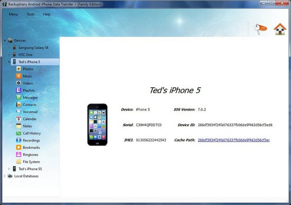 Backuptrans Android iPhone Data Transfer Plus