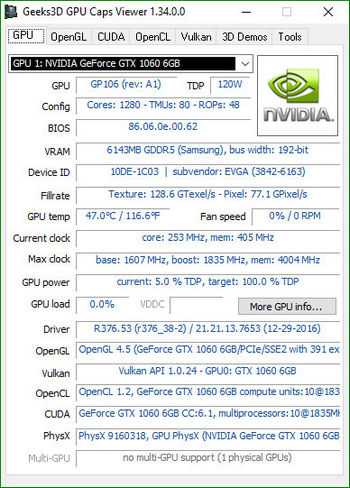 GPU Caps Viewer 1