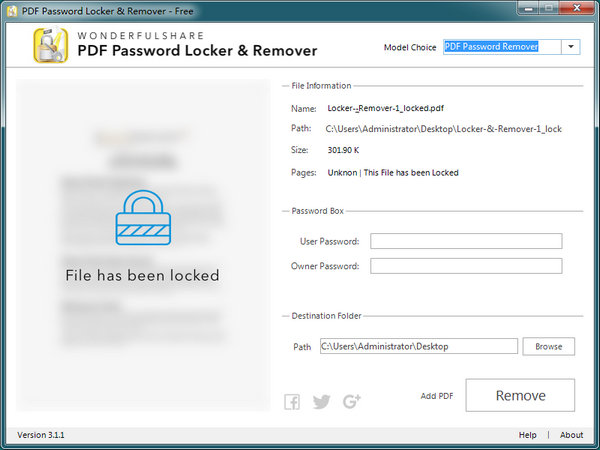 PDF Password Locker & Remover 3