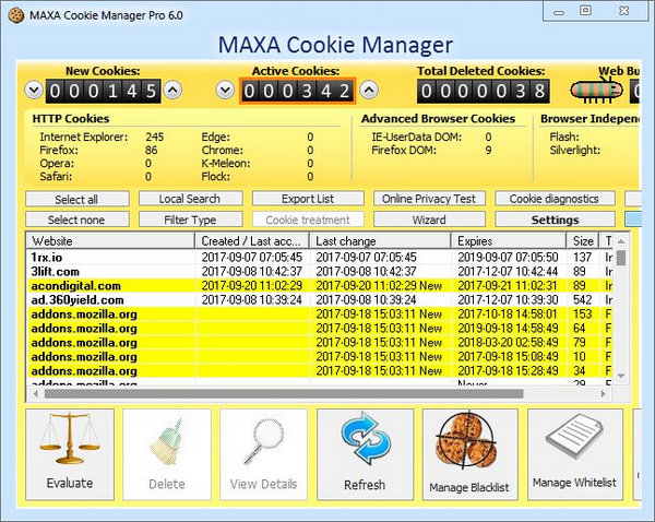 MAXA Cookie Manager Pro 6.0