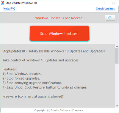 StopUpdates10 2560 Free Download Latest