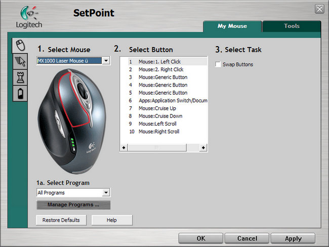 Logitech M-RCR147 Mouse SetPoint Drivers for Windows 10