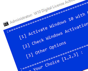 W10 Digital License Activation Script Tool