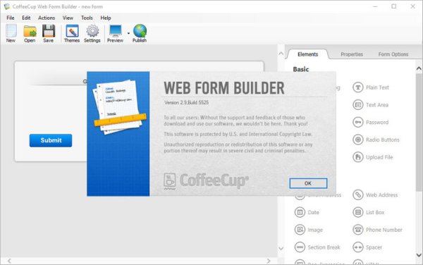 CoffeeCup Web Form Builder Full Version