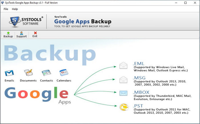 SysTools Google Apps Backup Full Version Download