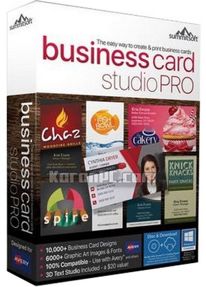 Download Summitsoft Business Card Studio Pro Full