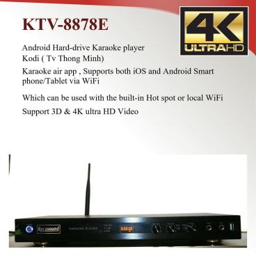 Android KTV-8878E V2 Vietnamese karaoke player 6tb Hardrive with 69000 songs-0