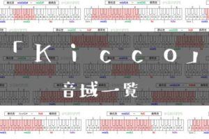 Kicco歌手音域一覧トップ