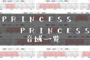 PRINCESS PRINCESS歌手音域一覧トップ