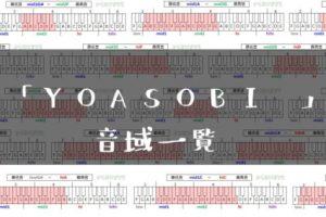 YOASOBI 歌手音域一覧トップ