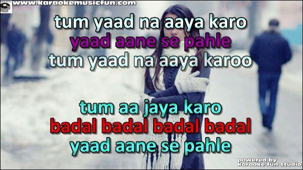 Tum Yaad Na Aaya Karo song detail