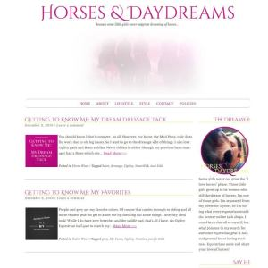 Horses & Daydreams Blog Design by Kara Rajchel