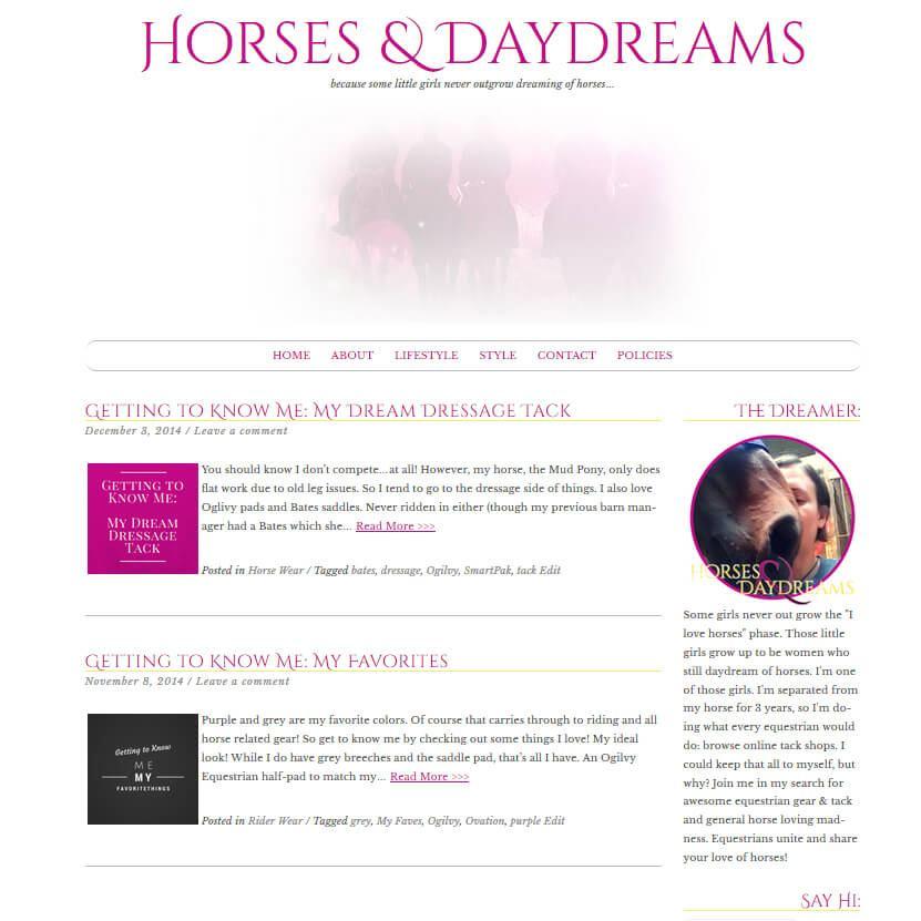 Horses & Daydreams Theme Development & Branding