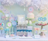 Kara's Party Ideas April Showers Birthday Party - Baby ...