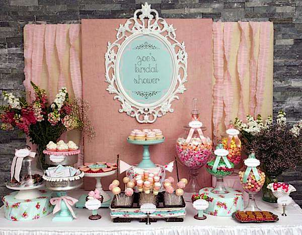 Kara's Party Ideas Shabby Chic Girl Spring Floral Bridal