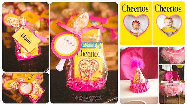 Kara's Party Ideas Pink Cheerios Girl 1st Birthday Party