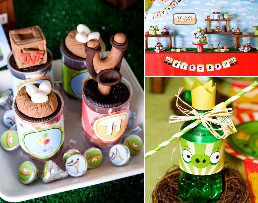 Kara S Party Ideas Angry Birds Boy Video Game Birthday Party Planning Ideas
