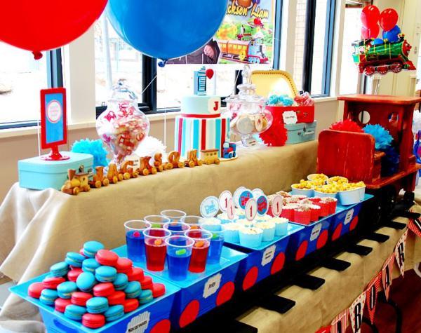 Kara's Party Ideas Train Boy Themed Birthday Party