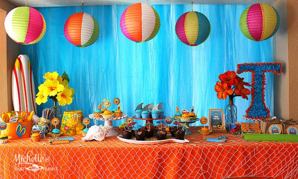 Kara's Party Ideas Hello Summer Surf Beach Boy Girl Party