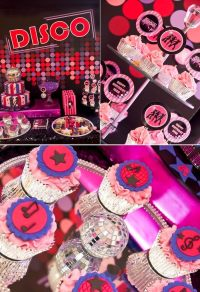 Kara's Party Ideas Pink Disco Teen Tween Girl Birthday ...