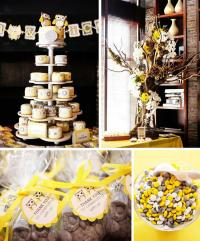 Kara's Party Ideas Owl Themed Yellow and Gray Baby Shower ...