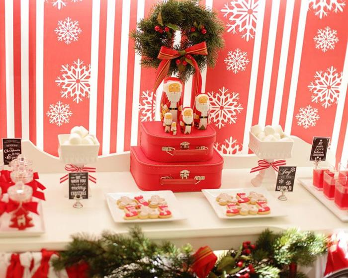 Karas Party Ideas Red and White Christmas Party with Such Cute Ideas via Karas Party Ideas