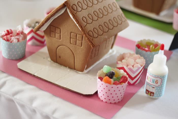 Kara's Party Ideas Gingerbread House Decorating Party With Lots Of