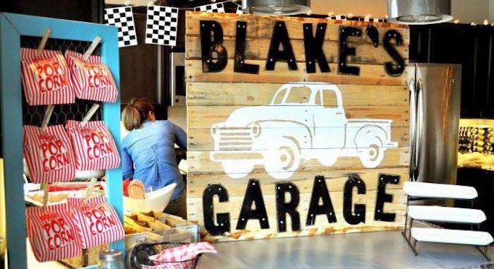 Karas Party Ideas Vintage Garage First Birthday Party