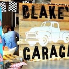 Kitchen Decor Themes Canvas Wall Art Kara's Party Ideas Vintage Garage First Birthday ...