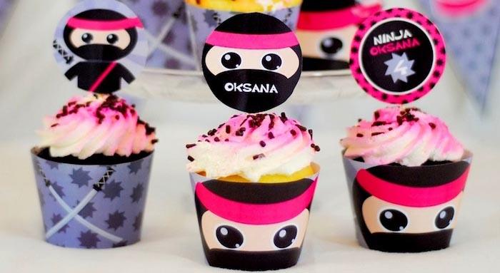 Karas Party Ideas Pink Ninja Themed Birthday Party Decor Ideas Planning Printables