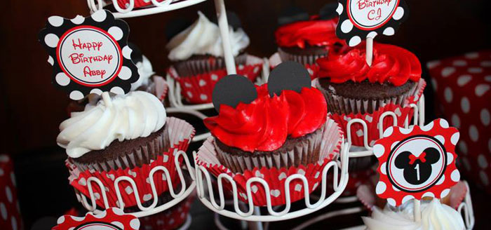 Karas Party Ideas Mickey Minnie Mouse Themed First Birthday Party