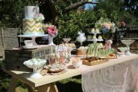 Kara's Party Ideas  Vintage Rustic Garden themed birthday
