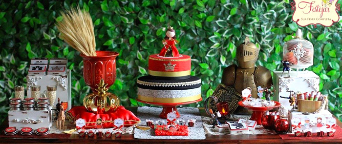 Karas Party Ideas Medieval Times Princess Themed Birthday