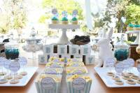 Kara's Party Ideas  Blue & White Baby Shower via Karas ...